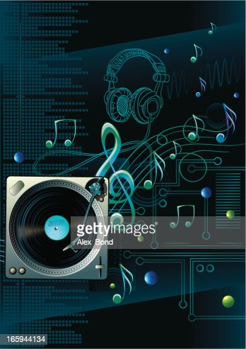 electronic music background vector art getty images