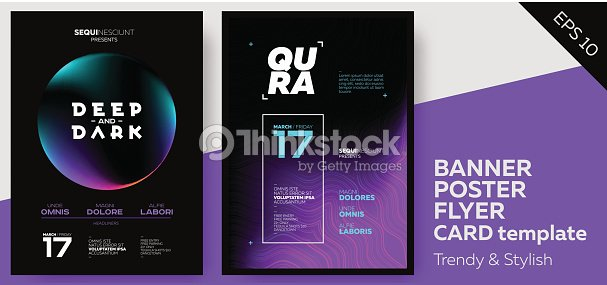 Electronic Music Covers for Summer Fest or Club Party Flyer. : stock vector