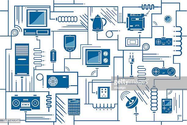Productos electrónicos de fondo