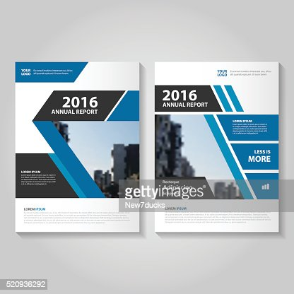 Elegance Blue Vector Annual Report Leaflet Brochure Flyer Template