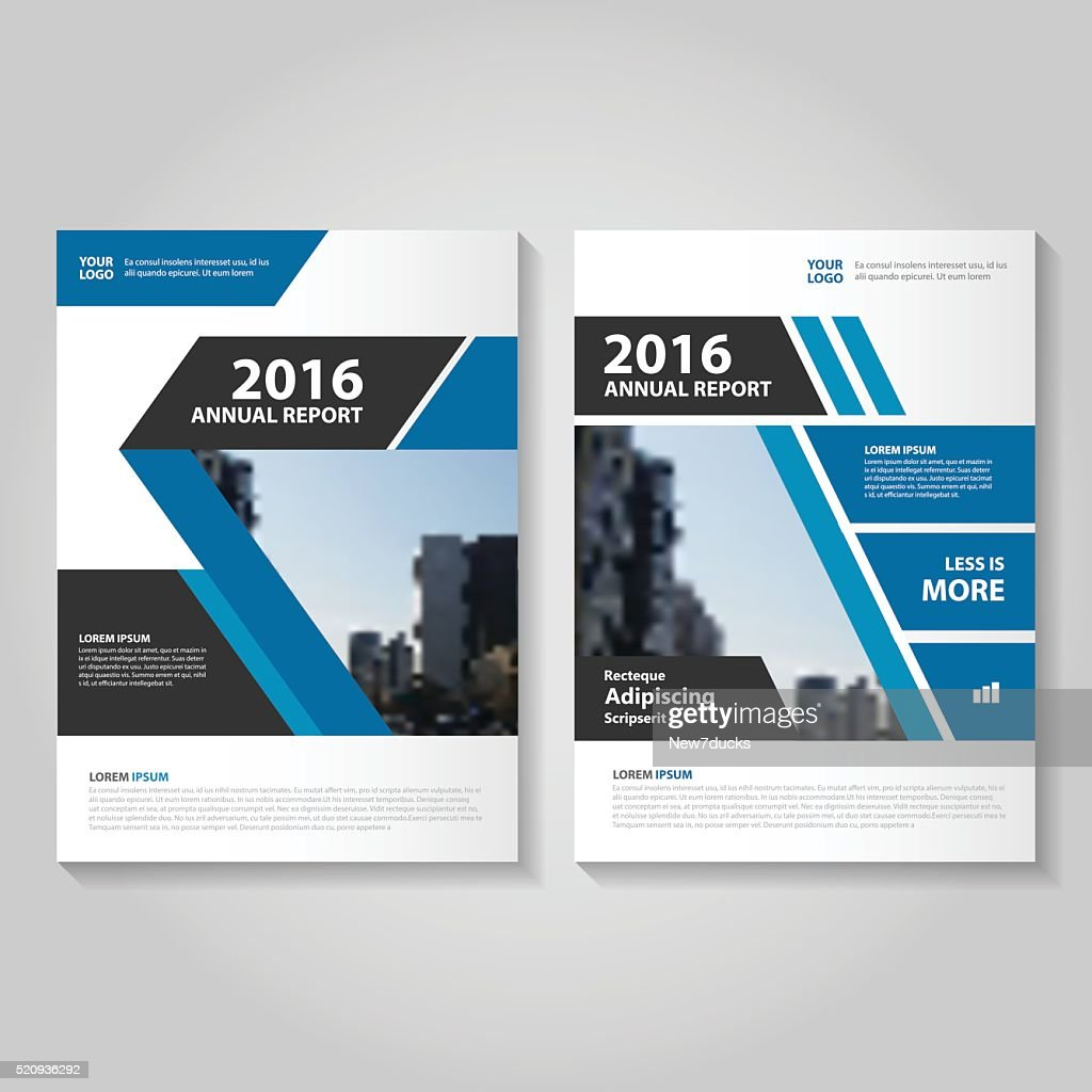 Elegance Blue Vector Annual Report Leaflet Brochure Flyer Template Design :  Vector Art