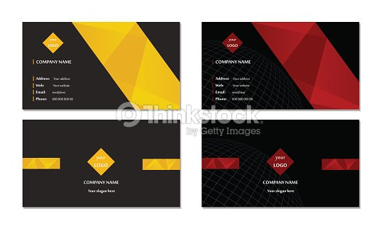 Elegant Business Card Template Set Vector Vector Art Thinkstock