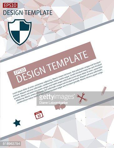 Elegant Business Report Template On A Polygon Background Vector