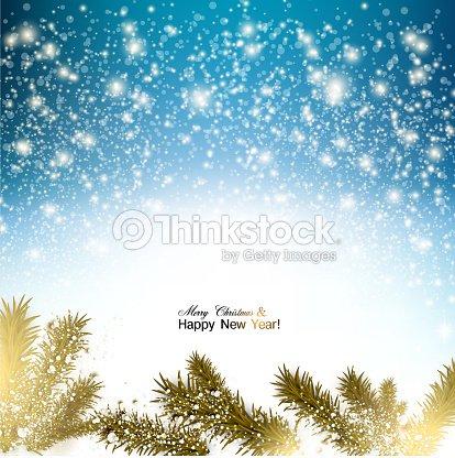 Sfondi Natalizi Eleganti.Elegante Sfondo Di Natale Con Fiocchi Di Neve E Filiali In Sno Arte