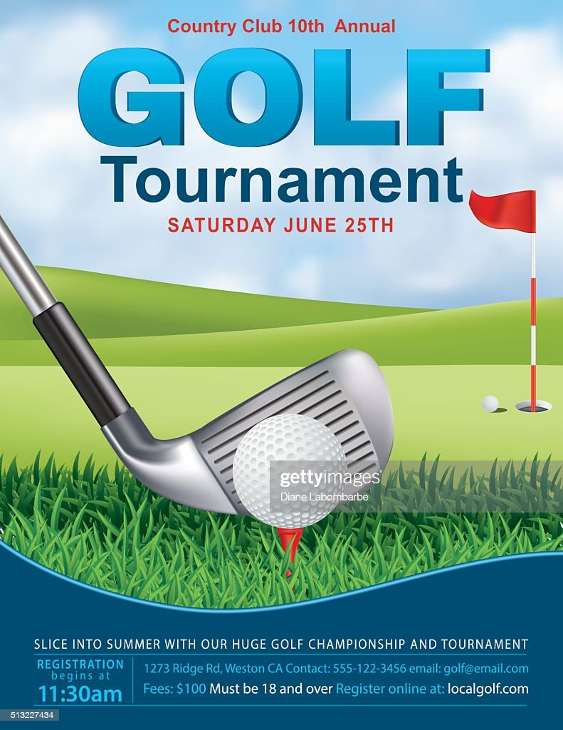 elegant golf tournament template with putting green and