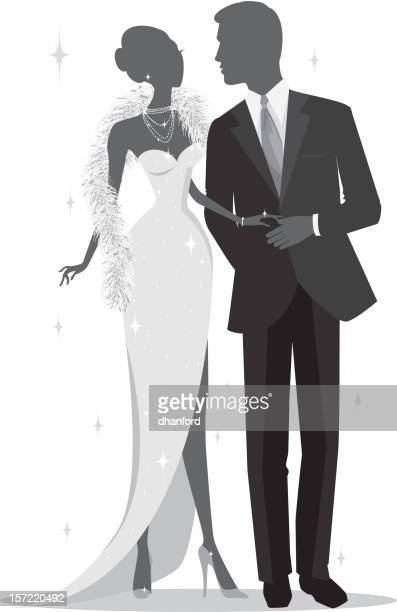 Elegant Silhouette Couple dressed to the nines!