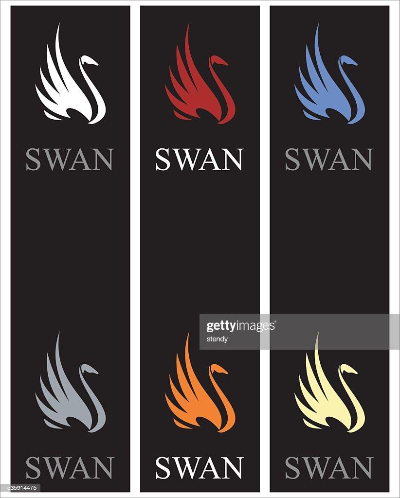 Elegant swans : Vector Art