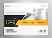 elegant yellow black business presentation brochure design template design