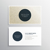 elegrant business company visiting card template with abstract geometric shapes