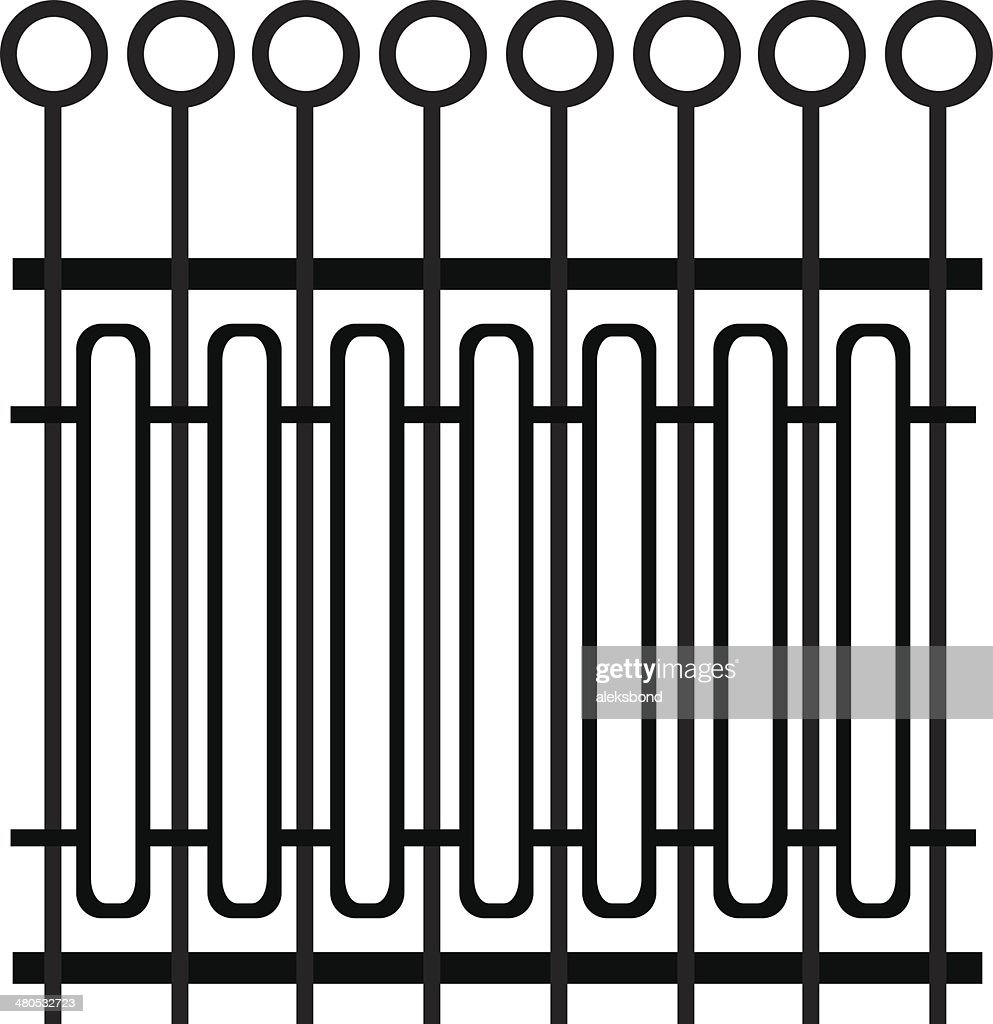 element fence isolated on white background : Vector Art
