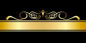 Elements of design Gold frame in vintage style Vector image.