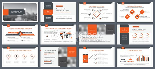 elements of infographics for presentations templates vector art