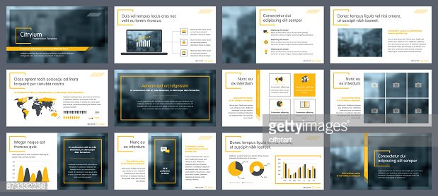 Elements of infographics for presentations templates : Vector Art