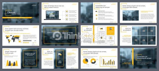 Elements of infographics for presentations templates : arte vetorial