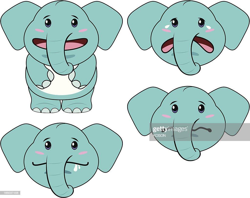 elephant cartoon vector art getty images
