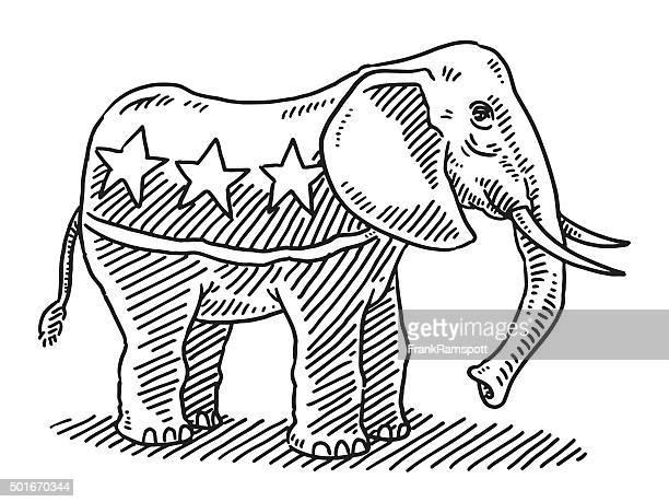 Elephant Republikanische Partei Symbol Abbildung