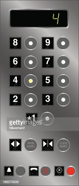 Elevator buttons with braille vector art getty images for Elevator options