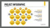 Process chart slide template. Business data. Graph, diagram. Creative concept for infographic, templates, presentation, report. Can be used for topics like planning, finance