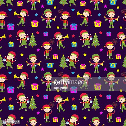 Elf helpers vector illustration : Arte vetorial