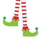 Elf socks vector design