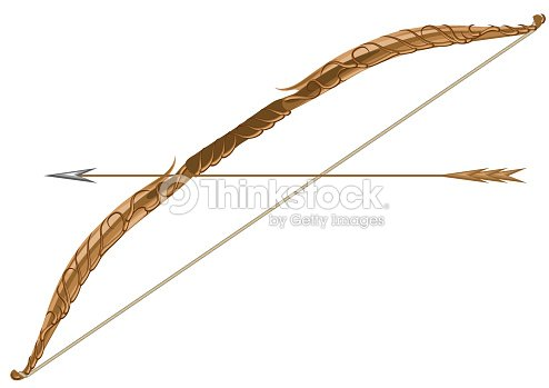 elven longbow et fl che clipart vectoriel thinkstock. Black Bedroom Furniture Sets. Home Design Ideas