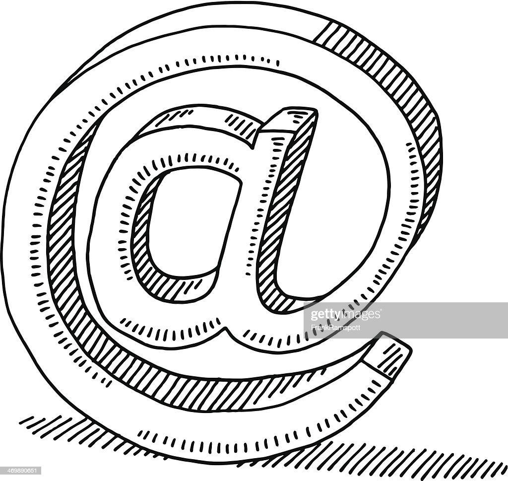 symbole de la communication lectronique dessin clipart
