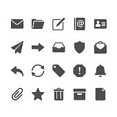 Glyph vector Icons. Pixel perfect.
