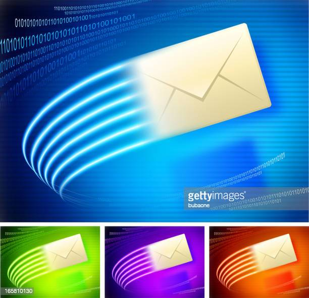 Email on binary code lights Background collection