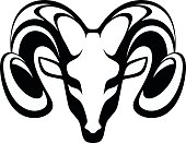 Emblem aries on a white background