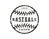 Emblem baseball championship. Graphic design for t-shirt. Black print on white background