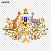 Emblem of Australia. National Symbol