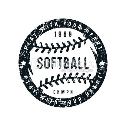 Emblem of softball championship