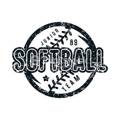 Emblem of softball junior team