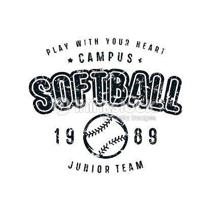 Emblem of softball team