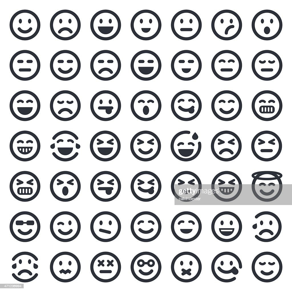 Emoji Icons Set 1 49ers Series Vector Art | Getty Images