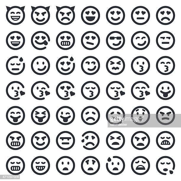 Emoji iconos conjunto serie 2/49ers