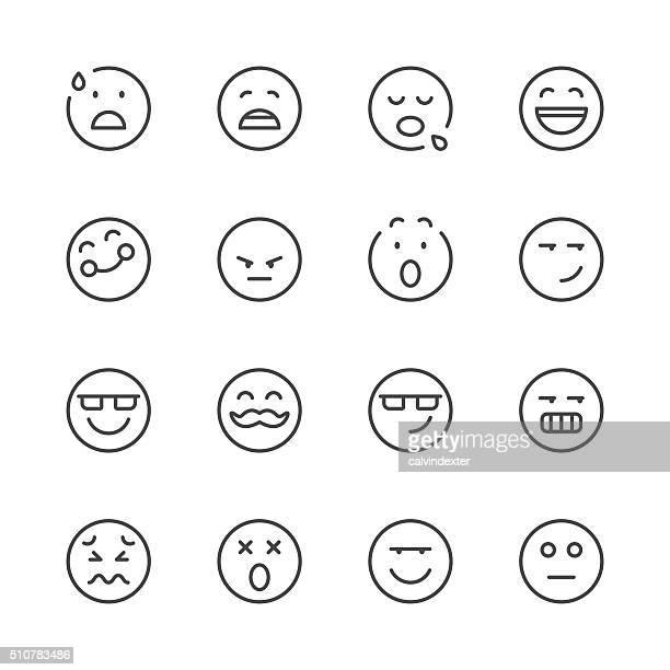 Emoji Icons set 7 | Black Line series