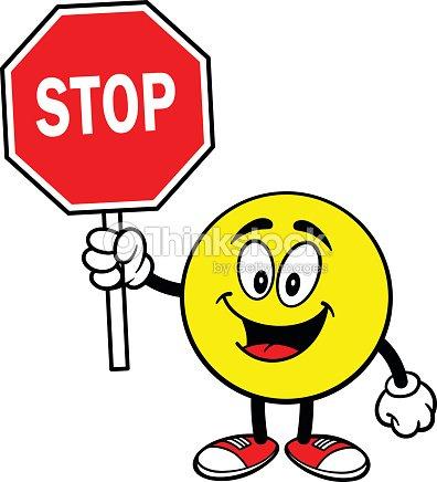 Moticon avec panneau stop clipart vectoriel thinkstock - Prix d un panneau stop ...