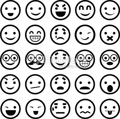 Emoticonsillustration clipart vectoriel thinkstock - Smiley noir et blanc ...
