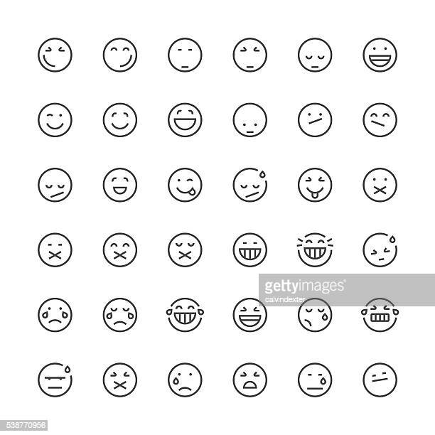 Emoticons set 3 | Thin Line series