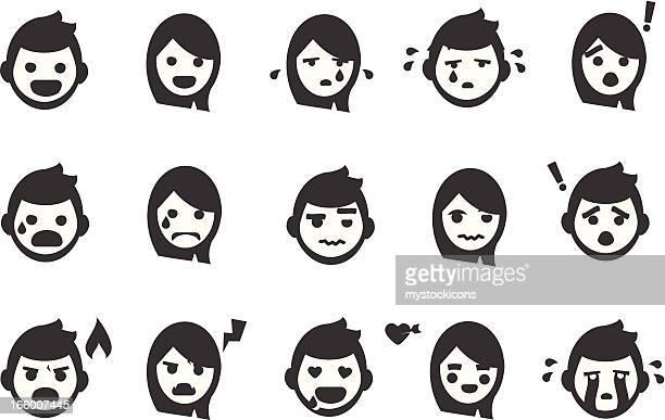 Emoción iconos de personas