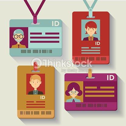 employee identification cards vector art thinkstock