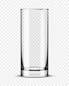 Empty drinking glass. Transparent glass