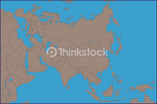 Empty Political Map Of Asia.Empty Political Map Of Asia Vector Art Thinkstock