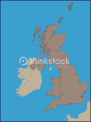 Political Map Of Uk.Empty Political Map Of Uk Vector Art Thinkstock