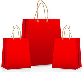 Empty Shopping Bag With Label For Advertising Vector Illustration ...