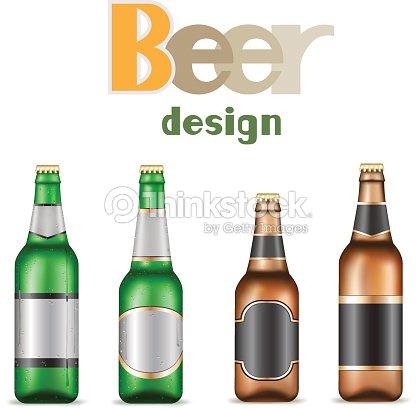 empty template for beer bottle design vector art thinkstock