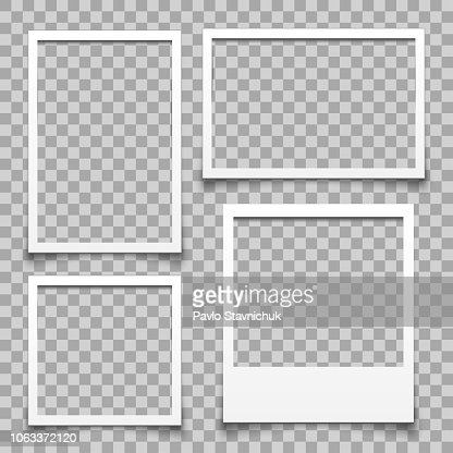 Empty white photo frame - for stock : stock vector