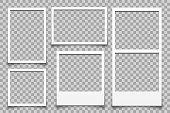 Empty white photo frame - vector