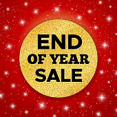 End of Year Sale vector promotion banner